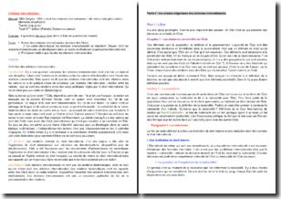 Les relations internationales vues par le droit : acteurs originaires et multilatéralisme