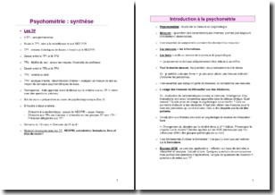 Cours de psychométrie : étude de la mesure en psychologie