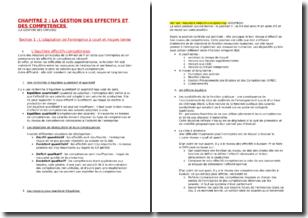 La gestion des effectifs et des compétences - Gestion des emplois