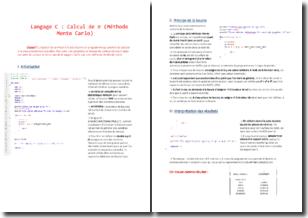 L'apprentissage du langage C et le calcul de pie : la méthode Monte Carlo