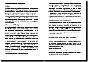La sociologie du Mali dans les années 1980-1990