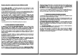 Exemption catégorielle : le règlement du Conseil n 994/98 du 7 mai 1998