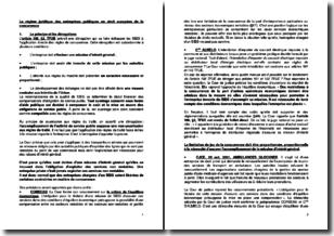 Le régime juridique des entreprises publiques en droit européen de la concurrence