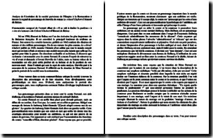Le colonel Chabert - Honoré de Balzac (1844) - Commentaire de l'extrait allant de Il se mit à étudier la position à rire et s'amuser