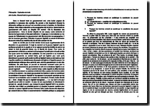 Second traité du gouvernement civil, chapitre 19, paragraphes 222 et 223 - John Locke (1689)
