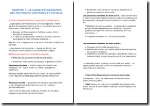 Le cadre d'élaboration des politiques sanitaires et sociales