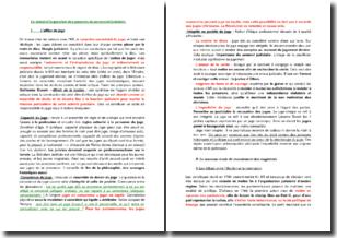 Le statut et la question des pouvoirs du personnel judiciaire sous l'Ancien Régime