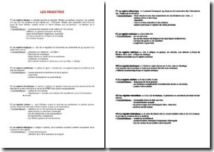 Les différents types de registres en littérature
