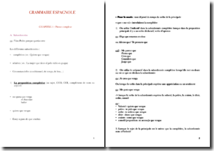 Les différents types de propositions subordonnées en grammaire espagnole