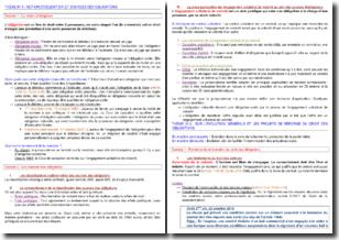 Notions et sources des obligations et contrats