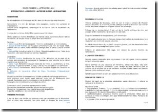 Introduction à Lorenzaccio et Alfred de Musset - Le romantisme