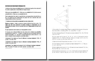 Exercices de mathématiques sur les probabilités