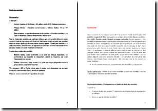 Cours de droit des sociétés : définitions et classifications