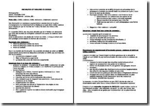 Concours de recrutement de professeurs des écoles (CRPE) - Incivilités et violence à l'école