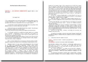 Droit des contrats et marchés publics : le contrat administratif