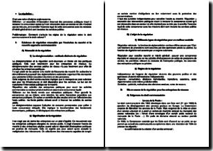 La régulation entre droit communautaire et national
