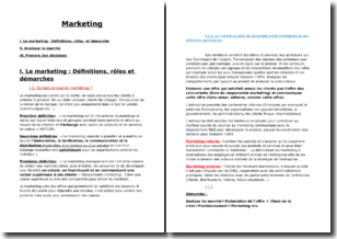 Cours de marketing simplifié et résumé pour connaître les fondamentaux