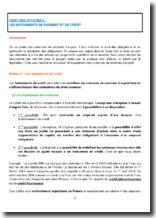 Droit des affaires : les instruments de paiement et de crédit