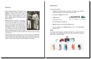 Présentation de l'entreprise Lacoste