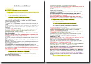 Le contentieux constitutionnel