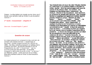 exemple de dissertation sur lassommoir