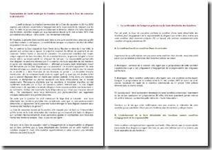 Cour de cassation, chambre commerciale, 20 mai 2013 - L'engagement de la responsabilité du dirigeant par les tiers