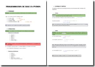 Éléments pour débuter en programmation python