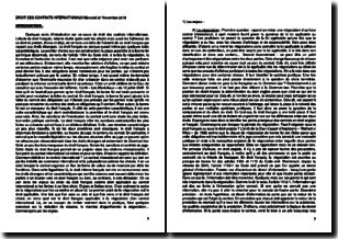 Cours de droit des contrats internationaux