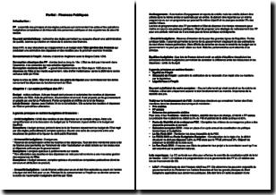 Fiche révision de partiel en droit civil - Les finances publiques