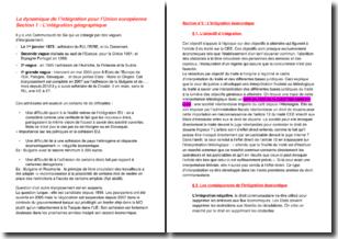Droit institutionnel de l'Union européenne - La dynamique de l'intégration