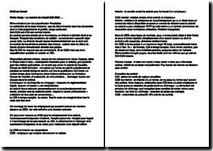 Droit du travail - Le contrat de travail