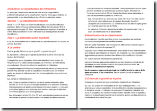 Droit pénal - La classification des infractions