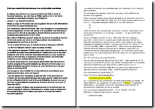 Droit des collectivités territoriales - Les collectivités incertaines