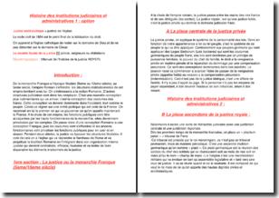 Histoire des institutions judiciaires et administratives