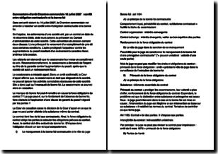Cour de cassation, chambre commerciale 10 juillet 2007 - Conflit entre obligation contractuelle et bonne foi