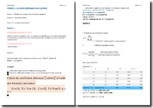 Les séries statistiques à deux variables