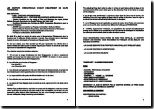 Les contrats internationaux d'achat d'équipement de haute technologie - Etude de cas avec contrat en Anglais