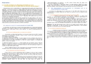 La nouvelle procédure de référendum introduite par la loi constitutionnelle du 23 juillet 2008 est-elle plus démocratique ? Introduction et plan détaillé
