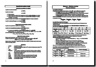 Chimie - Quantité de matière, réaction chimique et représentation des molécules