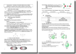 Chimie - Comprendre la cohésion et les transformations de la matière - Les solides ioniques et moléculaires
