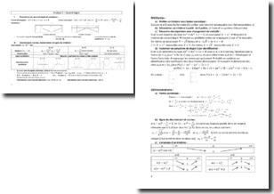 Analyse mathématiques 1re S - Second degré, fonctions, dérivation