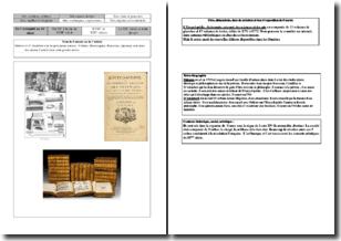 L'Encyclopédie ou Dictionnaire raisonné des sciences et des arts et des métiers (1751-1772)