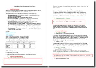 Organisation et la gestion comptable - Les stocks