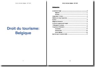 Le droit du tourisme en Belgique