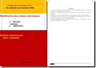 Préparation au concours CPGE : la modélisation des actions mécaniques