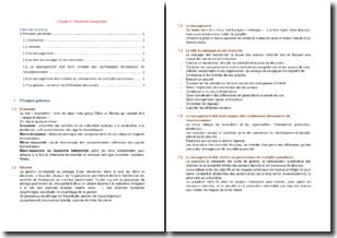 Gestion et management - Principes généraux