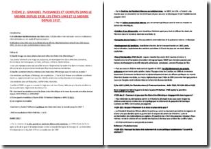Manuel d'histoire, géographie, Term S - Cote, Janin (2014) - Commentaire de documents sur le monde depuis 1918