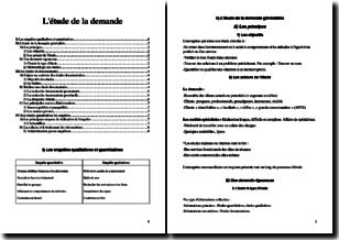 L'étude de la demande (marché, concurrents, clients)