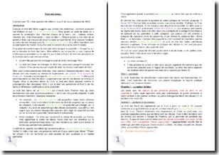 Droit des biens - Les biens et les rapports aux biens