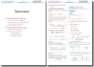 Exercices d'équation et d'inéquation